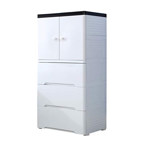 XU-zgang - Armario de plástico para habitación infantil, tipo cajón, compartimento de cierre de varias capas, caja de almacenamiento, 58 x 41 x 114 cm