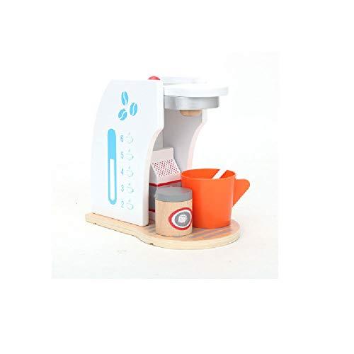 POSH Simulación De Niños Electrodomésticos De La Cocina Juguetes De Pan Madera Máquina Café Máquina Café Play Pap Rol Que Juega Juguetes Educativos Para Mejorar La Capacidad Cognitiva Y Práctica Del B