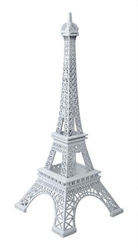 Kingwin Paris Tour Eiffel Art Statue Modèle Home Desk Salle Décoratifs Craft 25 cm (Blanc)