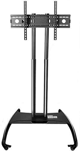 N/Z Inicio Equipo Mesa giratoria Soporte para TV Soporte Flotante de Acero Inoxidable para TV Soporte de Piso para TV de 32 70 Pulgadas Unidad de gabinete con Soporte de Piso de TV Negro con Ruedas