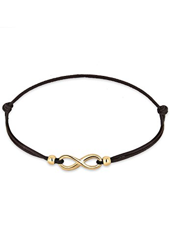 Elli Armband Damen Infinity Symbol Black in 925 Sterling Silber
