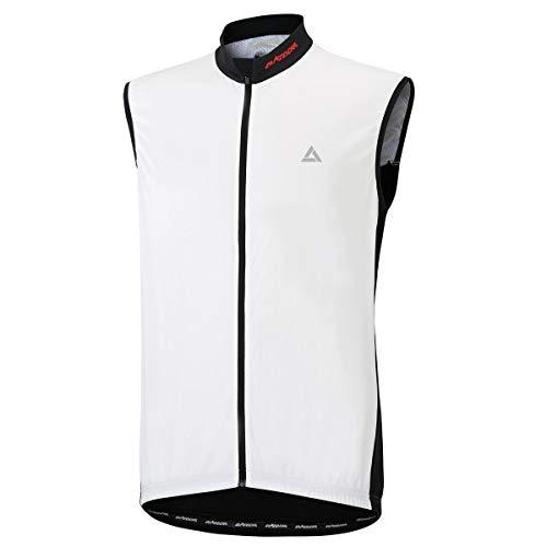 Airtracks Comfort Line Maillot de cyclisme fonctionnel sans manches Blanc/noir Taille M