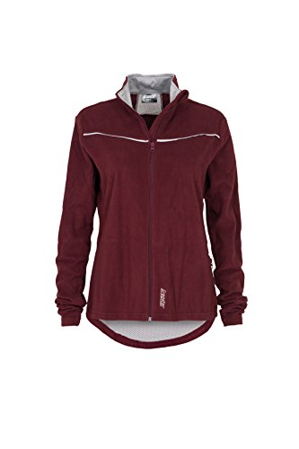 Gregster Damen Fleecejacke Sport-Jacke warm Polarfleece, bordeaux, XL