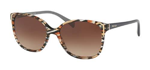 Prada PR01OS CONCEPTUAL CO56S1 55M Havana/Brown Gradient Square Sunglasses For Women+FREE Complimentary Eyewear Care Kit