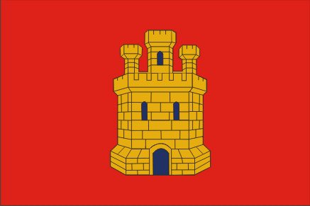 DURABOL Bandera de reino castilla flag 90x150cm SATIN+Regalo una pegatina