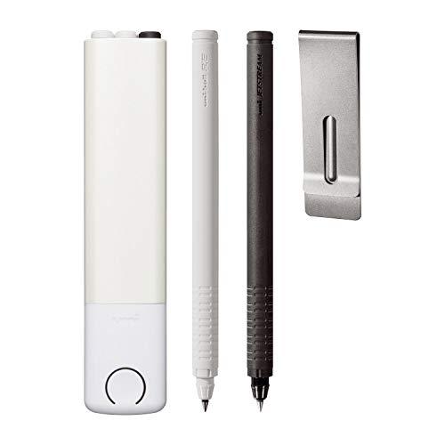 『三菱鉛筆 ボールペンセット ユニボールRE+ パールホワイト URP800051PPA1』の2枚目の画像