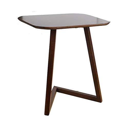 ZXNRTU Diseño simple Mesa de café de escritura funcionamiento Home Office Furniture Sofá Mesa auxiliar de TV bandeja de bambú Snack-escritorio del ordenador portátil Casual soporte movible En Sala for