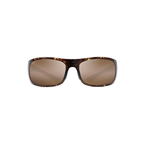 Maui Jim Big Wave Wrap Sunglasses, Olive Tortoise/HCL Bronze Polarized, Extra Large