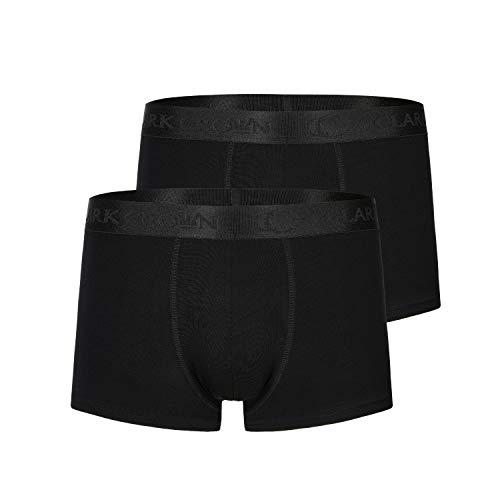 SanaSocks Heren Boxershorts/onderbroeken bamboe/herenondergoed bamboe zwart + wit (set van 2) huidvriendelijk, kreukvrije pasvorm (S-XXL)