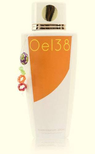 oel38 Körperölbalsam dans le verre Manufacture de distributeur avec pompe en acier inoxydable, la peau sèche, parfum Huile d'Olive et citron, orange, Qualité, cosmétique naturel, fabriqué à la main, huile de jojoba, cadeau,