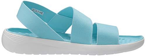 Crocs(クロックス)レディースライトライドストレッチサンダルUSサイズ:4カラー:ブルー