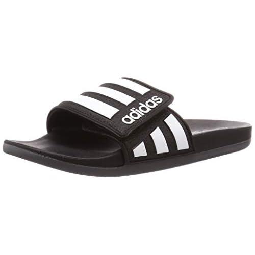 adidas Adilette Comfort Adj, Scarpa da Calcio Uomo, Negbás/Ftwbla/Grisei, 32 EU