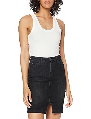 Lee Pencil Skirt, Falda para Mujer, Negro (Black Orrick Jn), 36