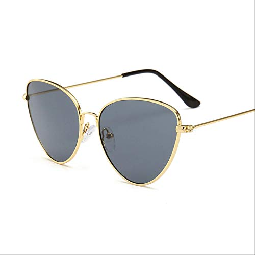 ODNJEMSD Gafas De Sol De Ojos De Gato De Metal Señora Elegantes Gafas De Sol Retro Ocean One-Size-Fits-All