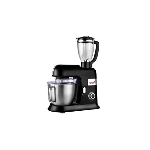 Harper Küchenmaschine mit Standmixer, Modell XXL, Schwarz