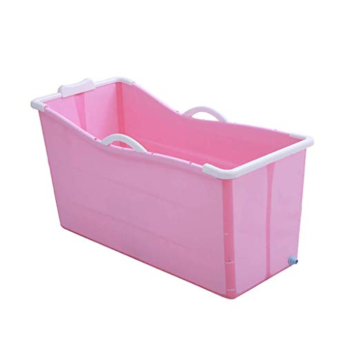 Volwassen Badkuip Portable Inklapbare Bad, Kind van de Baby Bad, Household groot bad Folding douchebak, Comfortabele Folding volwassen Bad, 2 kleuren, 107 * 43 * 63cm,Pink