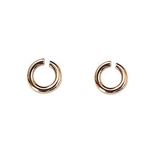 [アトラス] Atrus 18金 ピンクゴールドk18 丸カン Cカン パーツ 接続金具 留め具 ネックレス用 ブレスレット用 2個セット