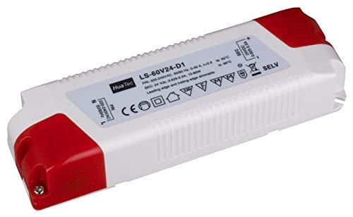 Eaglerise TRIAC - Trasformatore alimentatore LED a intensità variabile 40W 60W 12V 24V, Bianco