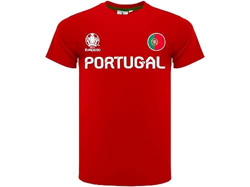 Portogallo Maglia Calcio Ufficiale 2020. Maglia Tifosi. Modello Neutro. Materiale in 100% Poliestere. Unisex. Taglie da Bambino/Adulto. Prodotto su Licenza Ufficiale del Club. (14 Anni)