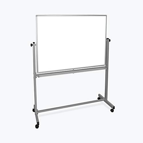 Mobile Magnetic Whiteboard 48'W x 36'H Silver Frame