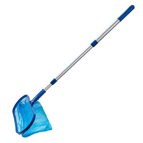 NOKMY Pool Skimmer Net Leaf Cleaning with Telescopic Pole Detachable,for Removing Leaves and Debris...
