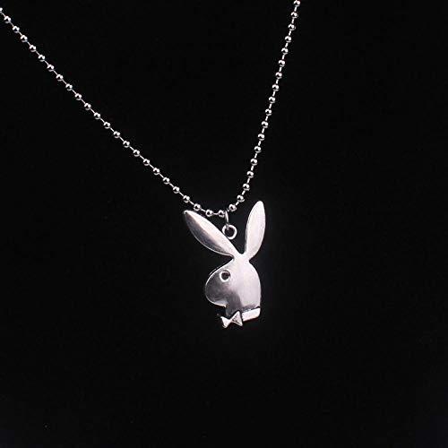 HNJing Gotische Halskette Persönlichkeit Frauen Art Und Weise Nette Lange Ohr Hase Anhänger Halsketten Charme Halskette Partei Schmuck