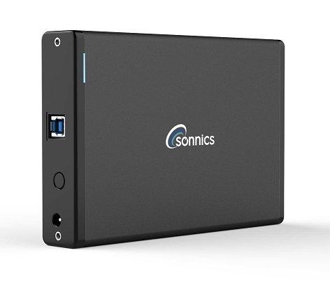 Sonnics - Disque dur externe USB 3.0 àhaut débit pour Xbox One et PS4 2 To Noir