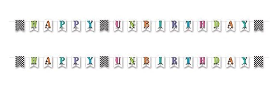 Beistle 54767, 2 Piece Happy Un-Birthday Pennant Banner, 6