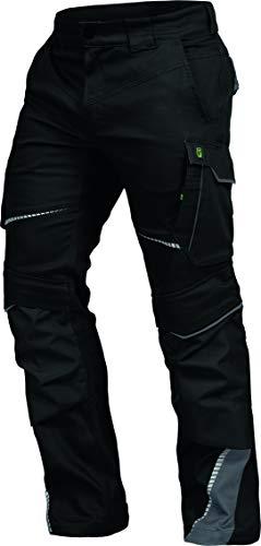 Leib Wächter Flex-Line Workwear Bundhose Arbeitshose mit Spandex (schwarz/grau, 48)