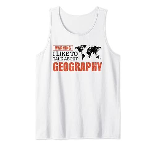 Mi piace parlare di geografia Regalo per l'insegnante Canotta