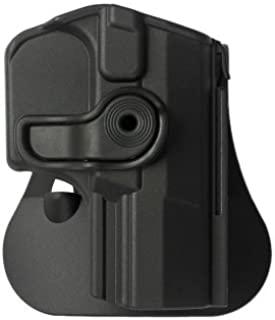 IMI-Defense Walther Q5 Match Holster Retention roto Paddle with Tactical Trigger Guard Lock Safety for PPQ 9mm & .40 Pistols M1 / M2 / Navy SD / P99Q / Q5 Champion MM