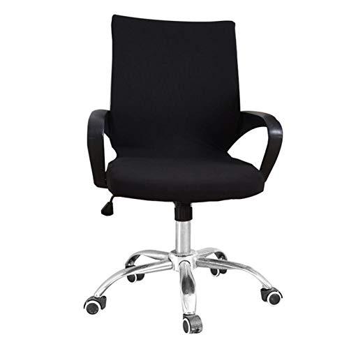 YAYANG Chair Cover Büro-Computer-Stuhl deckt Spandex-Stuhlabdeckungen Büro-Anti-Dust-Universal-Schwarz-Blau-Sessel-Cover Casual (Color : Black, Specification : Small(45 55cm))