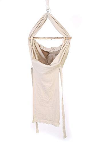NaBaWi - Baby Hängematte (Unikat- handgefertigt - bis 15kg) Federwiege als vollwertiger Schlafplatz