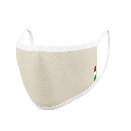 Relaxsan UNIMA [Beige] – Banda de cortesía Boca Nariz – ultraligera hilo Dryarn y plata X-Static lavable y reutilizable