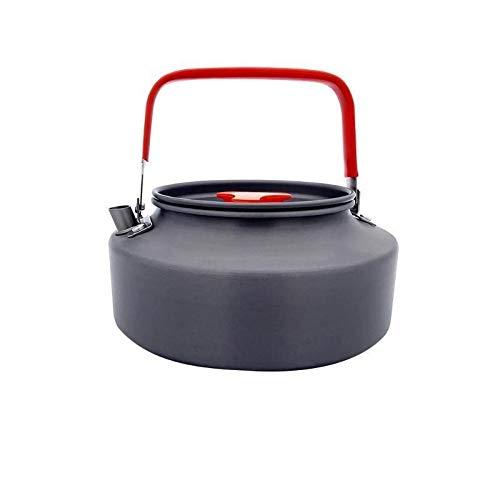 YMYGCC Tetera Acampada 0,8/1,1/1,2/1,6 L acampa Portable Hervir la Caldera del Agua aleación de Aluminio de la Tetera de la Caldera del Agua Pot Coffee Pot Picnic Vajilla 375 (Color : 1.1L)