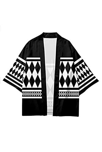 Enhopty Tokyo Revengers Ken Ryuguji Kimono, abrigo para Halloween, Carnival, Cosplay, color negro, M