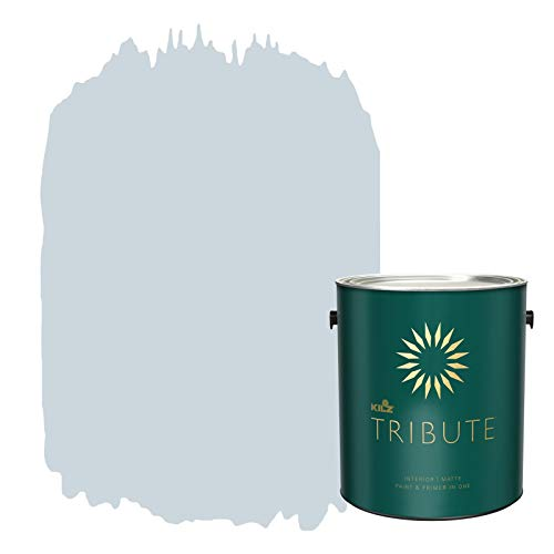 KILZ TRIBUTE Interior Matte Paint and Primer in One, 1 Gallon, Northern Sky (TB-42)