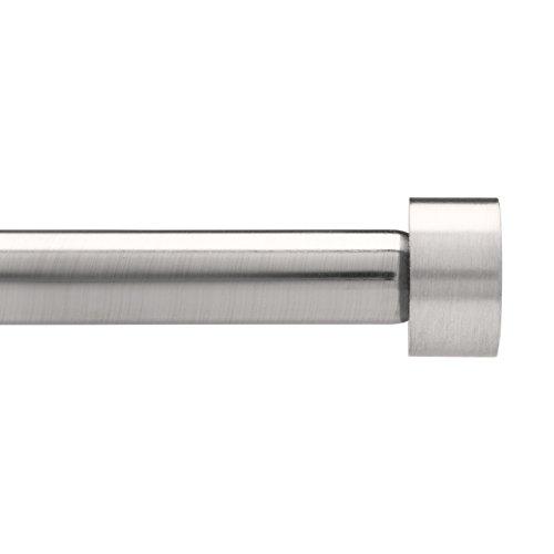 Umbra - Barra simple para cortina, 91,4 - 182,6 cm, acabado cromado, níquel, 182.6 - 365.7 CM
