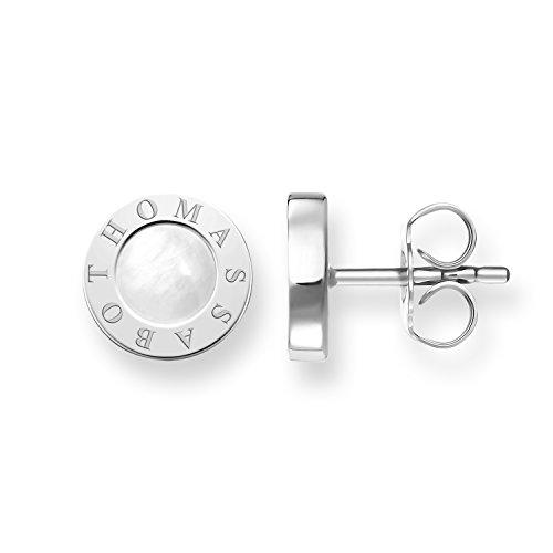 Thomas Sabo Damen-Ohrringe Ohrstecker Glam & Soul 925 Sterling Silber Perlmutt weiß H1859-029-14