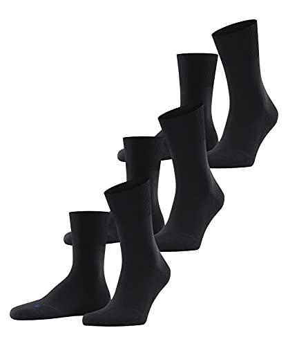 FALKE Unisex Run 3-Pack U SO Socken, Blickdicht, Schwarz (Black 3000), 46-48 (3er Pack)