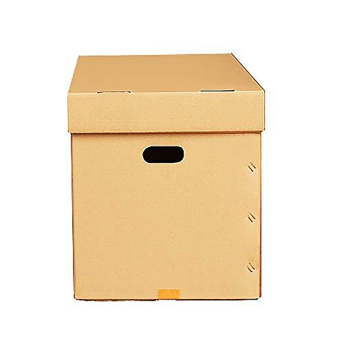YI-LIGHT Cajas de Embalaje de cartón Corrugado de 5 Capas para mudanza, Caja de mensajería Grande, Cajas de envío de Entrega con Tapa y Asas de fácil Transporte, 3 Paquetes de 500x400x400 mm