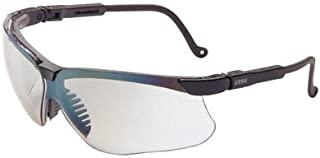 Uvex by Honeywell Genesis Safety Glasses with Black Polycarbonate Frame and SCT-Reflect 50 Polycarbonate Ultra-dura Anti-Scratch Hard Coat Lens