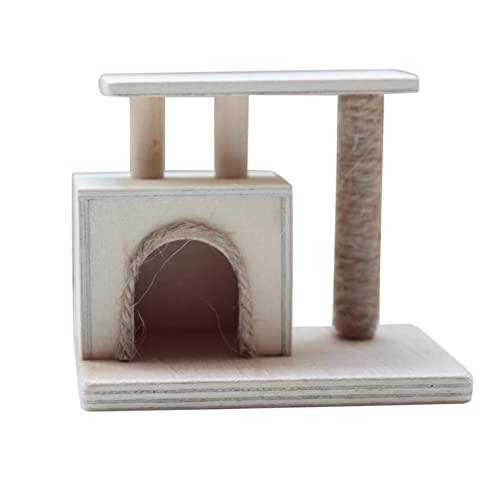 Soaying 1:12 Casa de MuuEcas Moderno áRbol de Gato Rascador Miniaturas Muebles Casa de MuuEcas Mascota Gato áRbol Poste Rascador para Gatos