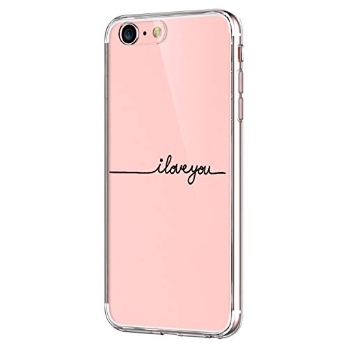 Pacyer Funda compatible con iPhone 7, Suave Carcasa compatible iPhone 8 Plus transparent Case Cover Silicona Funda compatible iPhone 7/8 Plus Diseño Rosa flower (6, iPhone 7)