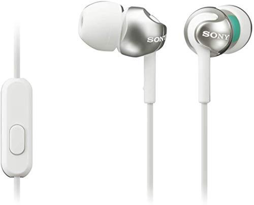 Sony MDR-EX110AP - Auriculares in-ear (con micrófono, control remoto integrado), blanco