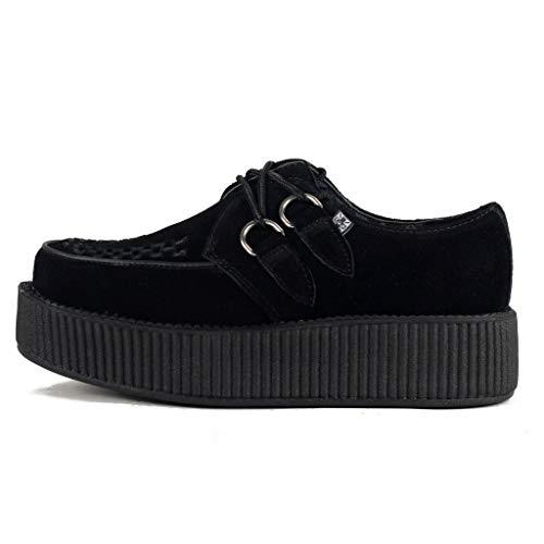 T.U.K. Unisex Viva Hi Sole Creeper Niedrige Sneaker, Schwarz, 38 EU