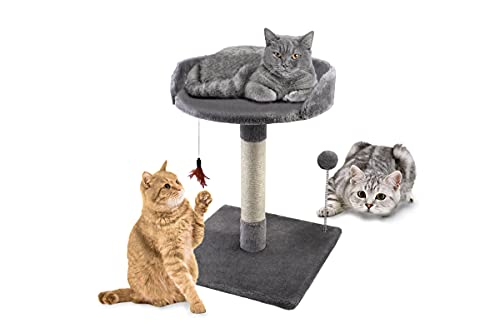 ADEPTNA Large Premium Pet Cat Kitten Scratching Post Play and Soft Sleeping Relaxing Bed - Cat Tree Tower Activity Centre for Playing Relax and Sleep