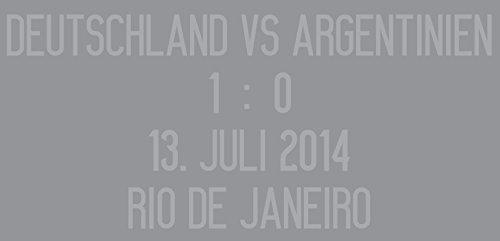 adidas DFB Deutschland vs Argentinien Match Details Flock Away Trikot 13.07 1:0