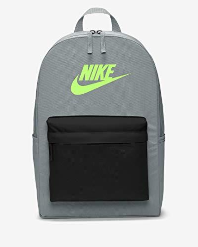 Nike Unisex_Adult Heritage - 2.0 Backpack, Smoke Grey/Black/Lime Blast, standard size