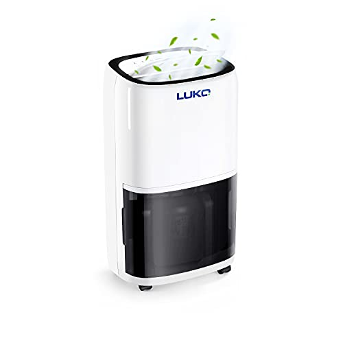 LUKO 70 Pints 4,500 SQ FT Dehumidifier for Basements and Large Rooms, Portable Home Dehumidifier with Drain Hose and 1.5 Gallon Large Water Reservoir